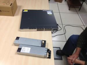 Cisco 3750X avec 2 alimentations de 350VA redondantes