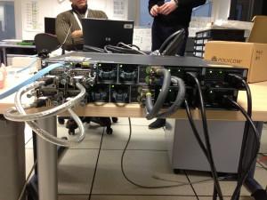 2 Switch Cisco 3750X mis en stack (vue arrière)