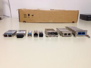 Différents modules utilisés (vue de face)